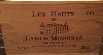 6 bouteilles Les Hauts DE LYNCH-MOUSSAS Haut-Médoc...