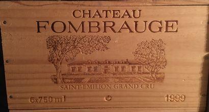 6 bottles of Château FOMBRAUGE Sain-Emilion Grand Cru 1999 in CBO