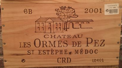 6 bouteilles de Château LES ORMES DE PEZ Saint-Estèphe 2001 dans CBO