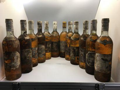 12 bouteilles de Château GRILLON Crème de...