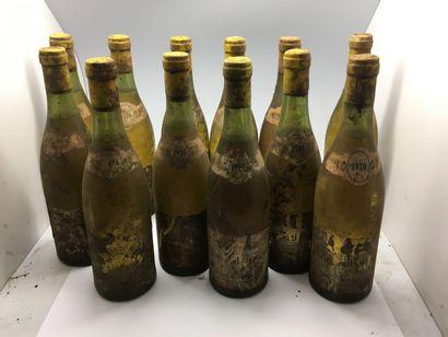 12 bottles of MEURSAULT-PERRIERES 1970 from...