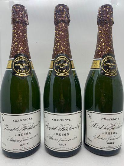 3 bottles of Champagne THEOPHILE ROEDERER Brut