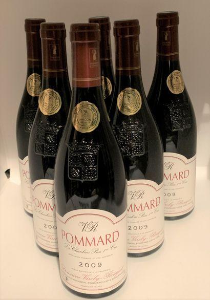 6 bouteilles de POMMARD 1er Cru Les Chanlins Bas 2009 du Domaine Virely-Rougeot