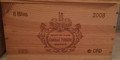 6 bouteilles de Château FERRIERE Grand Cru...