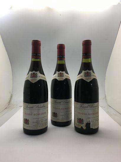 3 bottles of VOSNE-ROMANEE 1988 by Joseph...