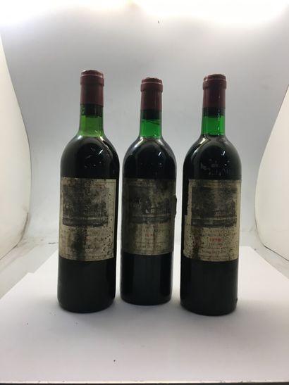 3 bouteilles de Château DUHART-MILON Grand...