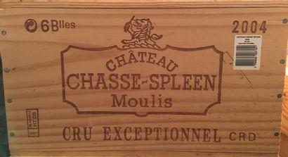 6 bouteilles de Château CHASSE SPLEEN Moulis...