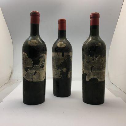3 bouteilles de Château LA GRAVE TRIGANT...