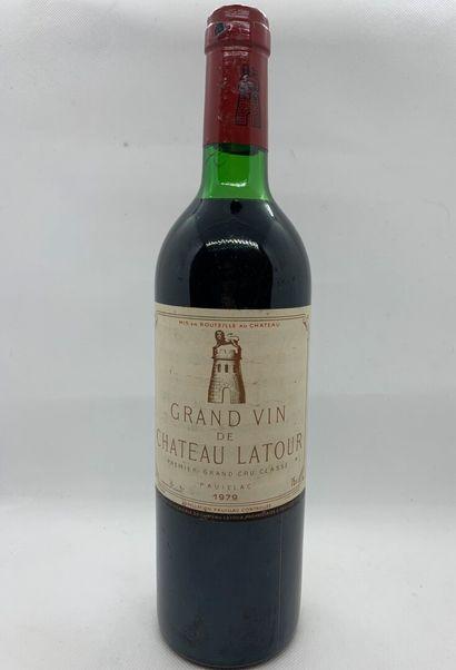1 bottle of Château LATOUR Premier Grand Cru Classé Pauillac 1979, slightly low,...