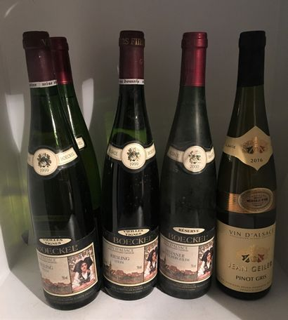 6 bouteilles d'ALSACE dont 2 Sylvaner Réserve...