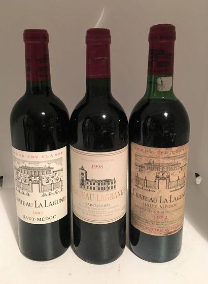 3 bouteilles dont 2 de Château LA LAGUNE,...