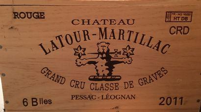 6 bouteilles de Château LATOUR MARTILLAC...