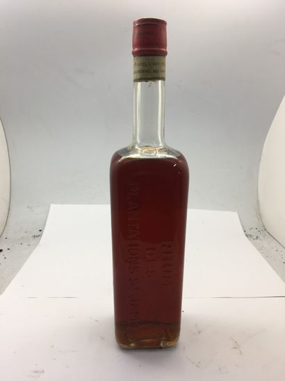 1 bottle of Plantations SAINT-JAMES rum, 1 l, slightly low, without label, dirty...