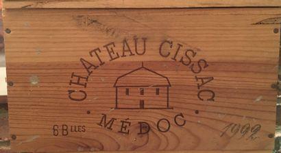 6 bouteilles de Château CISSAC Médoc 1992...