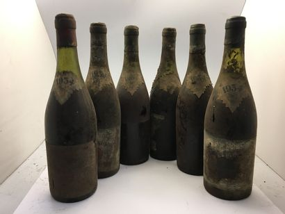 6 bottles of Château Couronne in Mâcon 1934...