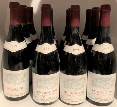 12 bouteilles de BOURGOGNE de Christian Faurois,...