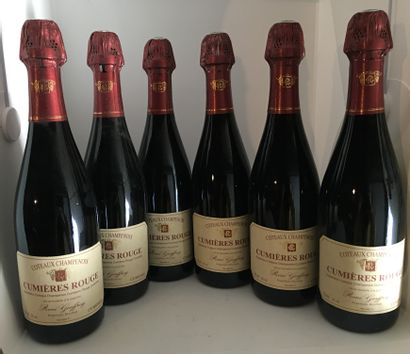 6 bottles of COTEAUX CHAMPENOIS CUMIERES ROUGE from René Geoffroy