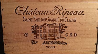 6 bouteilles de Château RIPEAU Grand Cru Classé Emilion Grand cru 2000 dans CBO