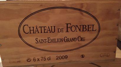 6 bottles of Château de FONBEL Saint-Emilion Grand Cru 2009 in CBO