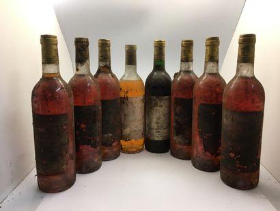 8 bouteilles de Château TRILLON dont 1 graves...