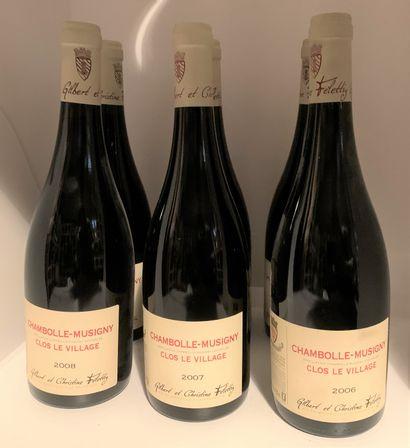 6 bottles of Gilbert and Christine Felettig...