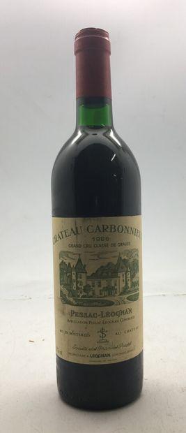1 bouteille Château CARBONNIEUX Pessac-Leognan...