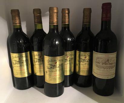 6 bouteilles dont 5 CAHORS Réserve des Tsars...