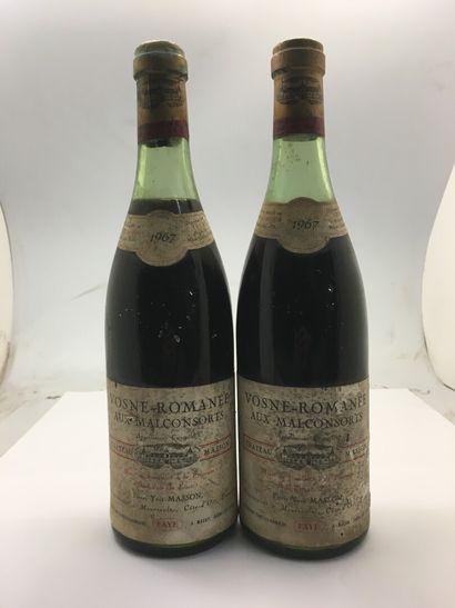 2 bottles of VOSNE-ROMANEE Aux Malconsorts...