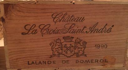 12 bouteilles de CHÂTEAU LA CROIX SAINT ANDRE...