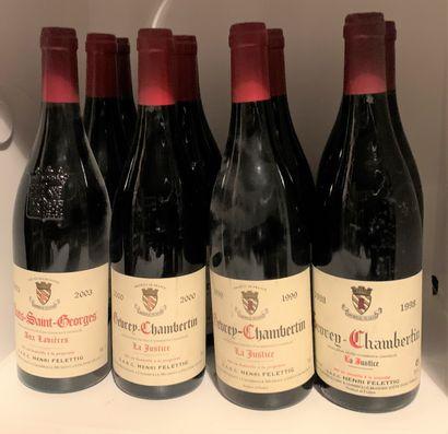 12 bottles of Domaine Henri Felettig including...