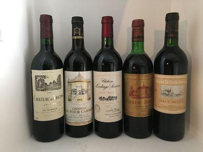 12 bouteilles dont 1 Château LA TOUR CARNET...