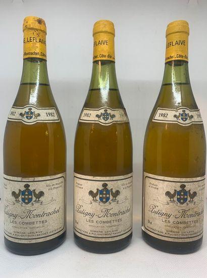 3 bottles of PULIGNY-MONTRACHET Les Combettes...