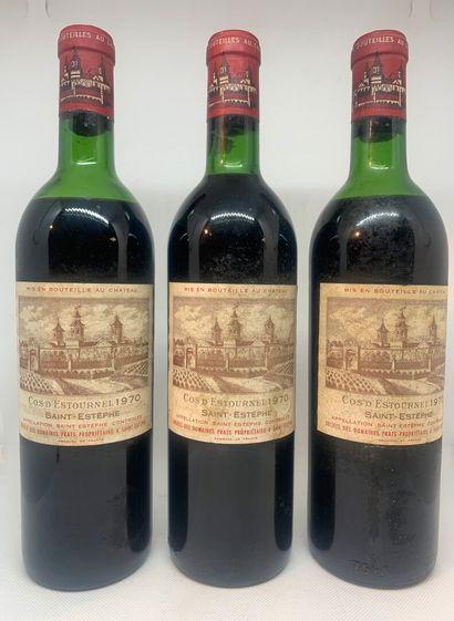 3 bouteilles de COS d'ESTOURNEL Saint-Estèphe...