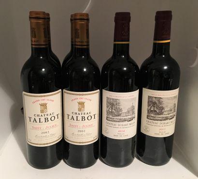 6 bouteilles dont 4 Château TALBOT, Grand...