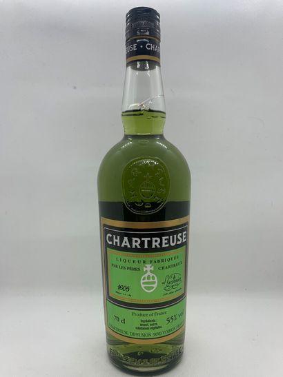 1 bouteille de CHARTREUSE VERTE, 1 bouteille...