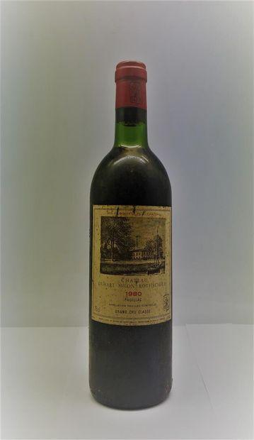 6 bottles including 1 Chateau Larose-Monteil, Sauternes, white 1959, 1 Chateau DUHART-MILON...