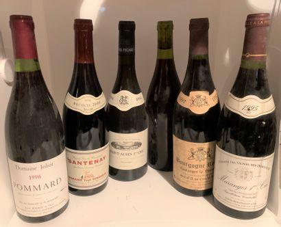 6 bouteilles dont 1 POMMARD 1996 du Domaine...