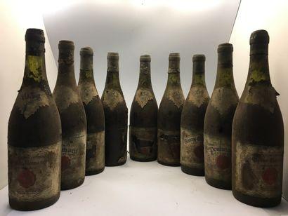 9 bottles of Château Couronne in Mâcon 1934...