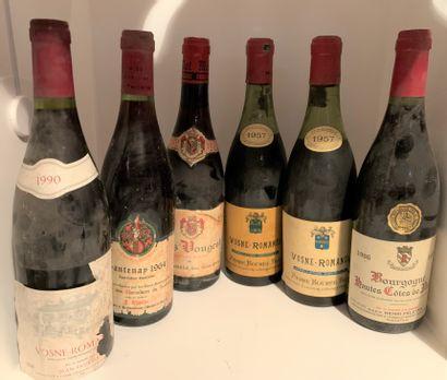 6 bottles including 2 VOSNE-ROMANEE 1957...