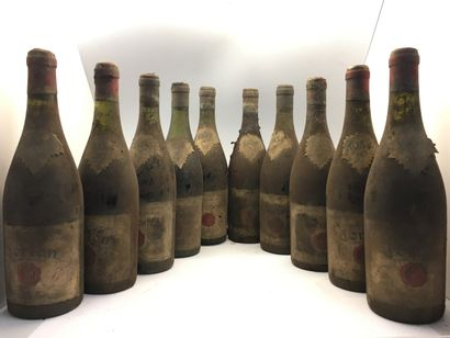10 bottles of Château Couronne 1934 including...