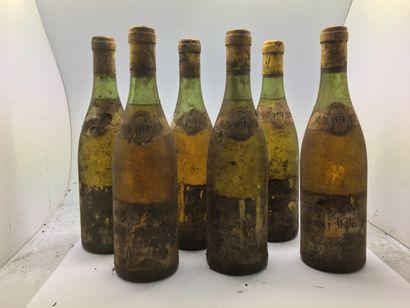 6 bottles of MEURSAULT-PERRIERES 1970 from...