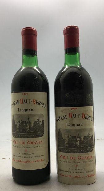 2 Bouteilles Château Haut Bergey-Leognan...