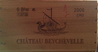 6 bouteilles de Château BEYCHEVELLE Saint-Julien...