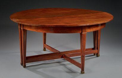 Rare dining table in mahogany and mahogany...