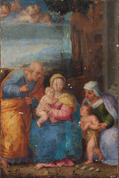 Sebastiano FILIPPI, dit BASTIANINO (Lendinara 1536-Ferrare 1602) La Sainte Famille...