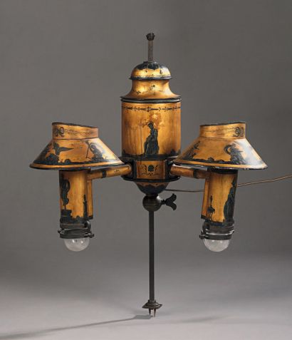 Lamp with removable quincunx in height, in...