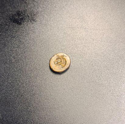 Intaille ovale et plate gravée d'une tête...