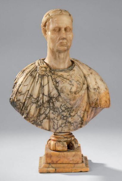 Bust in marble or alabaster representing...
