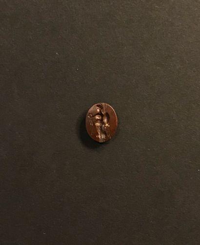 Intaille ovale plate gravée d'une Victoire...