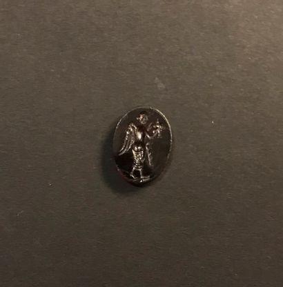 Intaille ovale et plate gravée d'une Victoire...